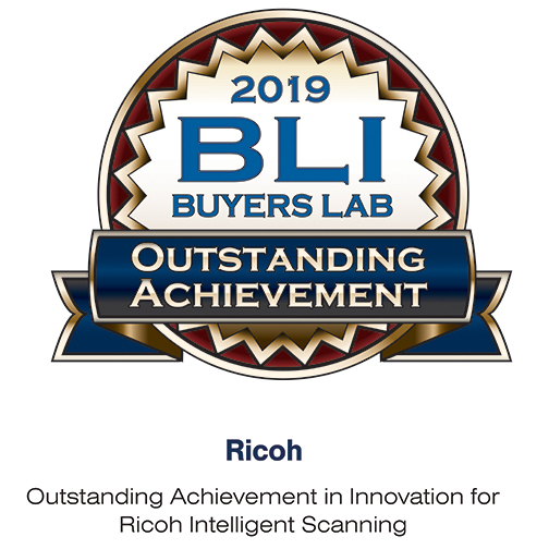 IM C3500 - BLI Award Outstanding Achievement in Innovation for Ricoh Intelligent Scanning